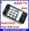 A520 TV Dual SIM TV Mobile Quad Band with Analotg TV and Camera