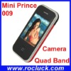 Mini Prince 009 Mini Mobile Phone Dual SIM Quad Band with Camera