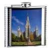 Duplex steel hip flasks with printed pictures
