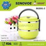 Hot selling 2 layers Lunch box container for promotion