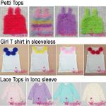 Petti tops,girl T-shirt in sleeveless,lace tops in long sleeve
