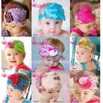 Hot Baby Feather Hair Band Infant Head wrap Feather Flower Headband