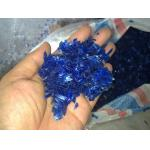 PET Dark Blue Bottle Recycled Flakes