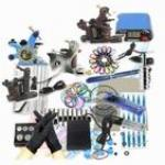 4 Machine Guns Starter Tattoo Kits Inks Grips Needles Power Supplies Equipment Set