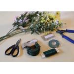 Floral wire with bright colors used for floral arrangements