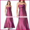 2009 popular trumpet sweetheart sleeveless iridescent taffeta violet criss-cross ruched evening gowns ed0215