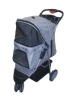 plaid 3 wheels pet strollers/trolley