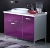 W1118-BL04 Aluminum Vanity Unit with Cast Mineral Wash Basin
