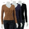 Women's Pullover Cable Knit Sweater
