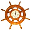 Wooden ship wheel clock/wall hanging clock