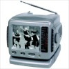 "5.5"" B/W CRT TV WITH AM/FM RADIO"