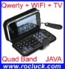 Promotion T2000 Quad Band Qwerty WIFI Cell Phone with Analog TV