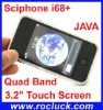 I68+ TV Quad Band Dual SIM TV Phone with Dual Camera and JAVA