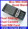Mini N95 8GB (NN95) Mini Dual SIM Cell Phone Quad Band with Dual Sliding