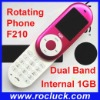 Mini F210 Mini Rotating Mobile Phone Dual Band with Camera