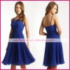 A-Line halter royal chiffon cocktail dresses cd0081