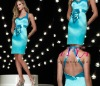 2010 Skyblue Satin Evening Dress(D9006)