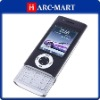 W008 Dual Card Quad Band Dual Camera Flashlight TV Function JAVA Slide Cell Phone Black #5072