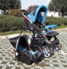 plastic-wheels baby stroller with car seat  (CE Certificate)