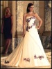 three-dimensional ribbon flowers wedding dress KKW-007