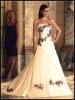 three-dimensional ribbon flowers wedding dress KKW-007