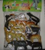 fashion style plastic animal toy set for children