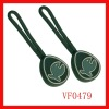 2012 new brand custom rubber zipper pull for handbags(VF0479)