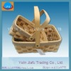 Different two colour rectangle nature brown wooden chip basket