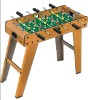 wooden soccer table game with leg