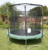Outdoor spring trampoline and safety net