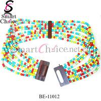 Stylish custom colors beaded western belts