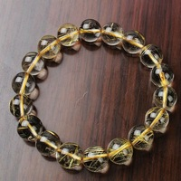 fashion jewelry natural Rutilated crystal bracelet present for girl