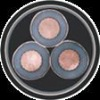 copper conductor XLPE Insulated pvc power cable