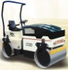 Hydraulic double drive and double wheels vibratory rollers