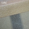polyester square mesh fabric with silver