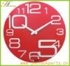 red creative plastic decrative wall clock