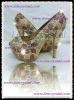 plum blossom pattern 5.5 inch open toe Genuine crystals diamond platform pumps 5-11 full size