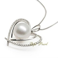 Heart Style Freshwater Pearl Pendant
