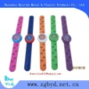 logo face silicone slap band watch, attractive wristband watch