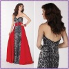 Classic Sweetheart Leopard Satin A Line Beaded Arabic Evening Dress 2012