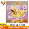 Pikachu - 10*15cm modern cartoon canvas DIY oil painting by numbers for kids' art