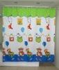 Cartoon bear printed shower curtain