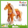 PLush Toy horse on wheels