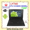 7 inch mini laptop with VIA8650(LP700I)