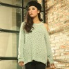 2012 autumn outfit new irregular dew shoulder woman flavour sweater