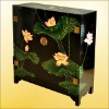 China polished lacquer wooden chest