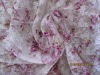 2012 nice printing pattern on white lace fabric wedding dress