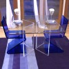 2012 hot sale acrylic z shape chair