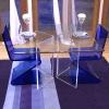 2012 hot sale acrylic z shape chair