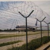 The Airport Of The Fence With Barbed Nets